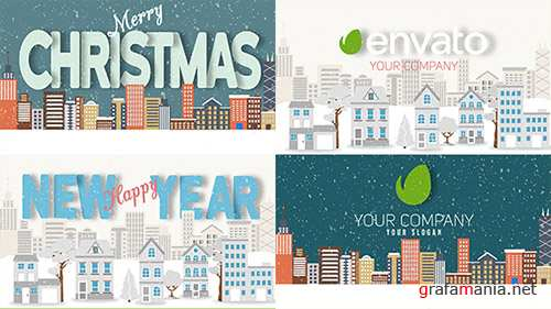 Christmas and New Year Text with Logo Reveal - Project for After Effects (Videohive)