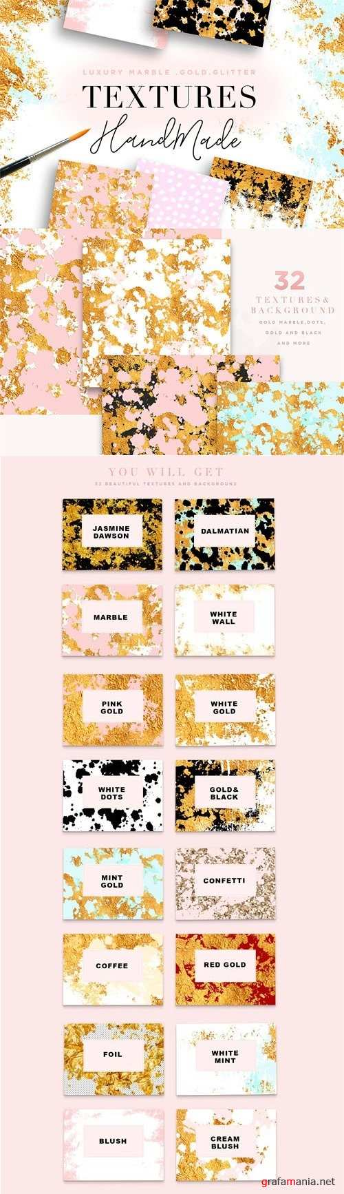 Luxury Marble & Gold Textures - 2037495