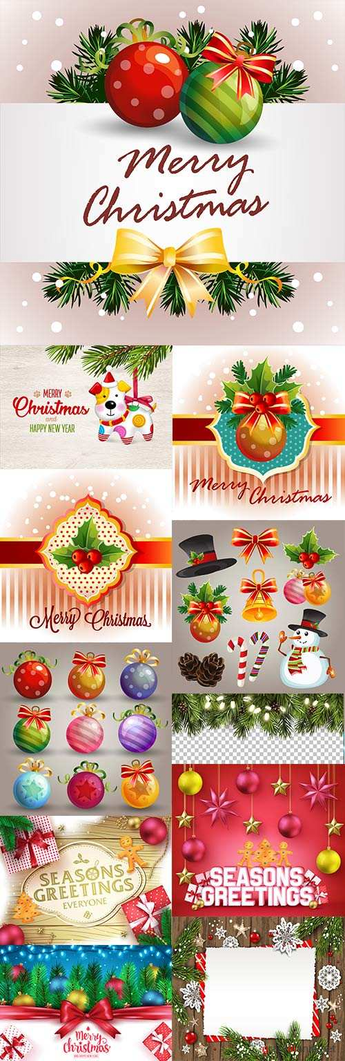 Merry Christmas and New Year design elements 7