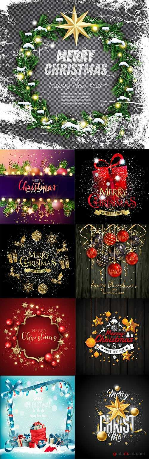 Merry Christmas and New Year design elements 8