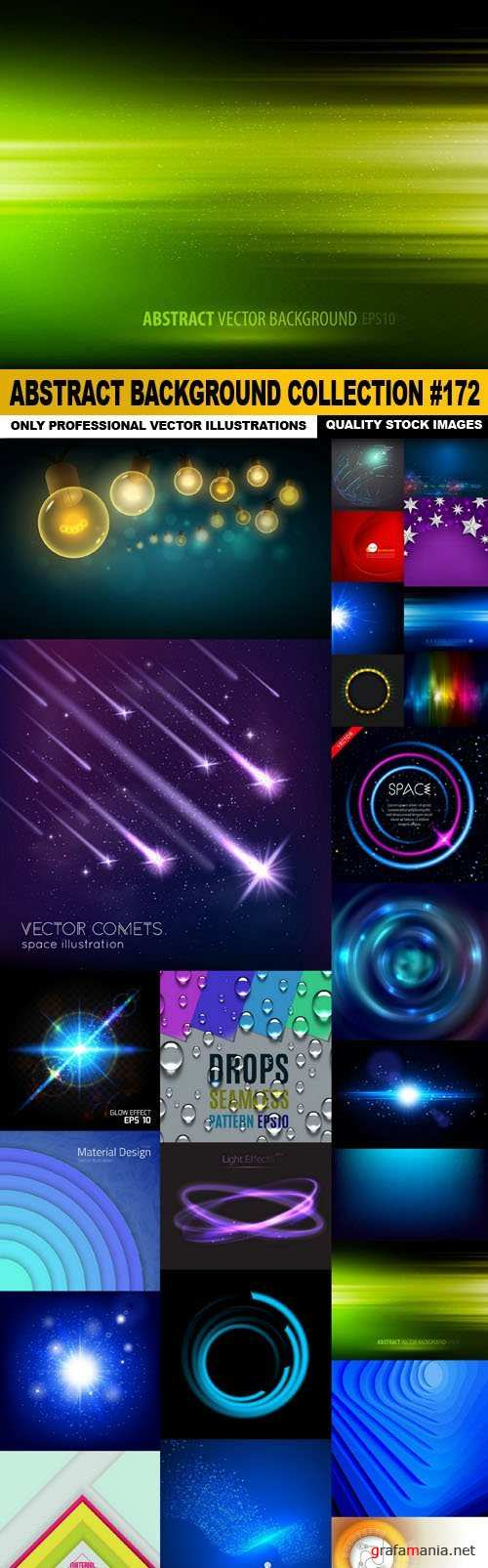 Abstract Background Collection #172 - 25 Vector
