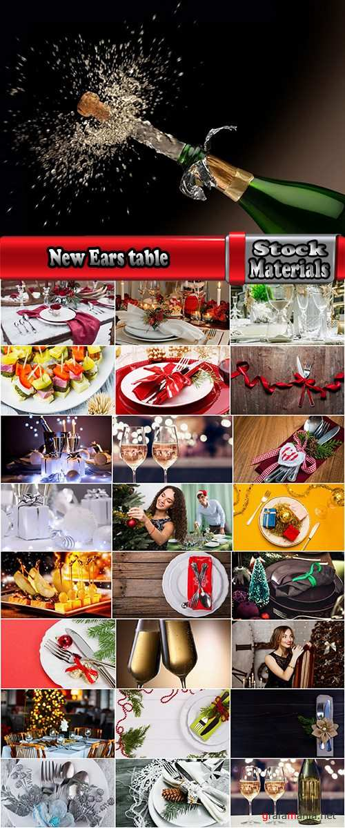New Ears banquet table cutlery gala dinner champagne 25 HQ Jpeg