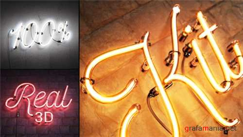 Real 3D Neon Kit - After Effects Project (Videohive)