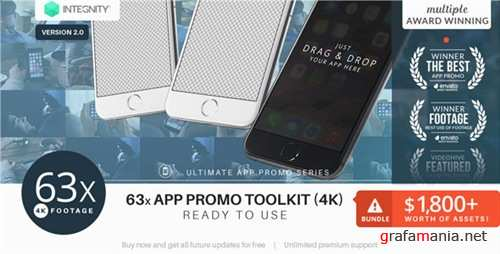 The Ultimate App Promo - UltraHD Mockup Toolkit - After Effects Project (Videohive)