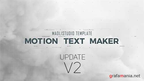 Motion Text Maker - After Effects Project (Videohive)