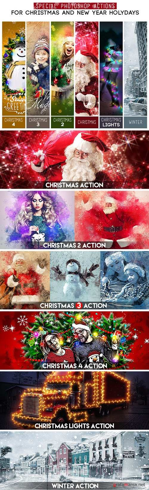 Special Photoshop Actions Bundle - For Christmas and New Year Holydays