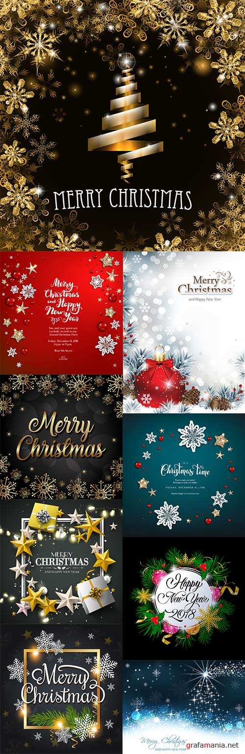 Merry Christmas and New Year design elements 9
