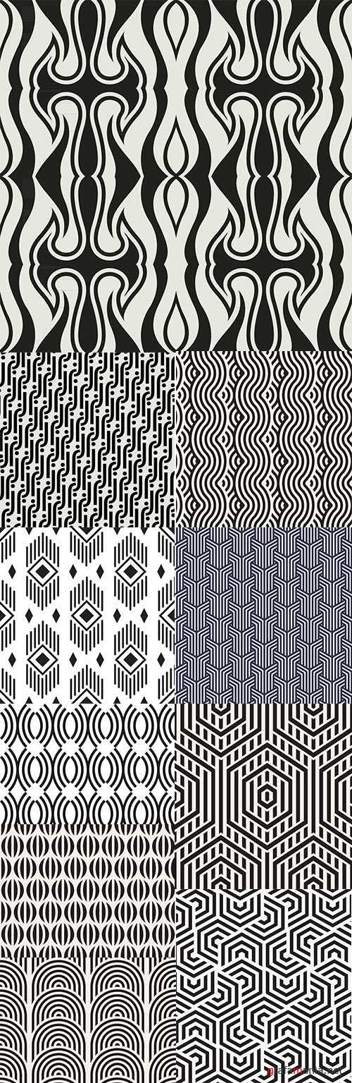 Modern abstract geometry seamless pattern design 21