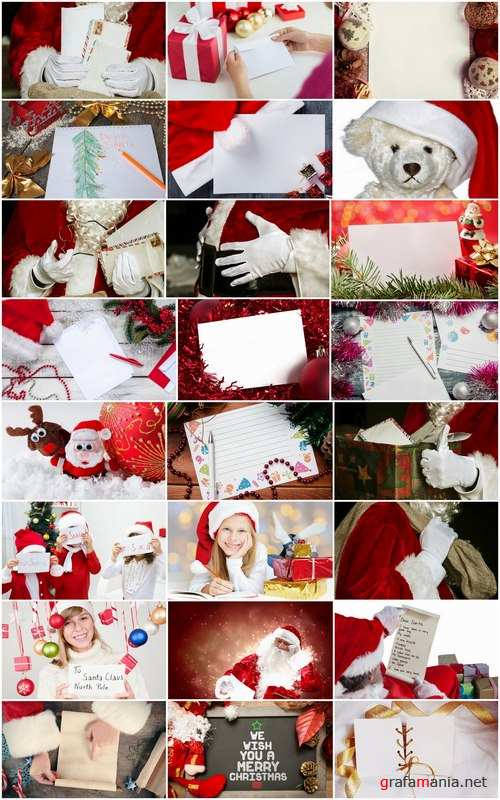 letter to Santa Claus Christmas illustration 25 HQ Jpeg