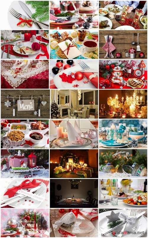 Christmas table setting banquet celebration feast fork spoon table Pibor 25 HQ Jpeg