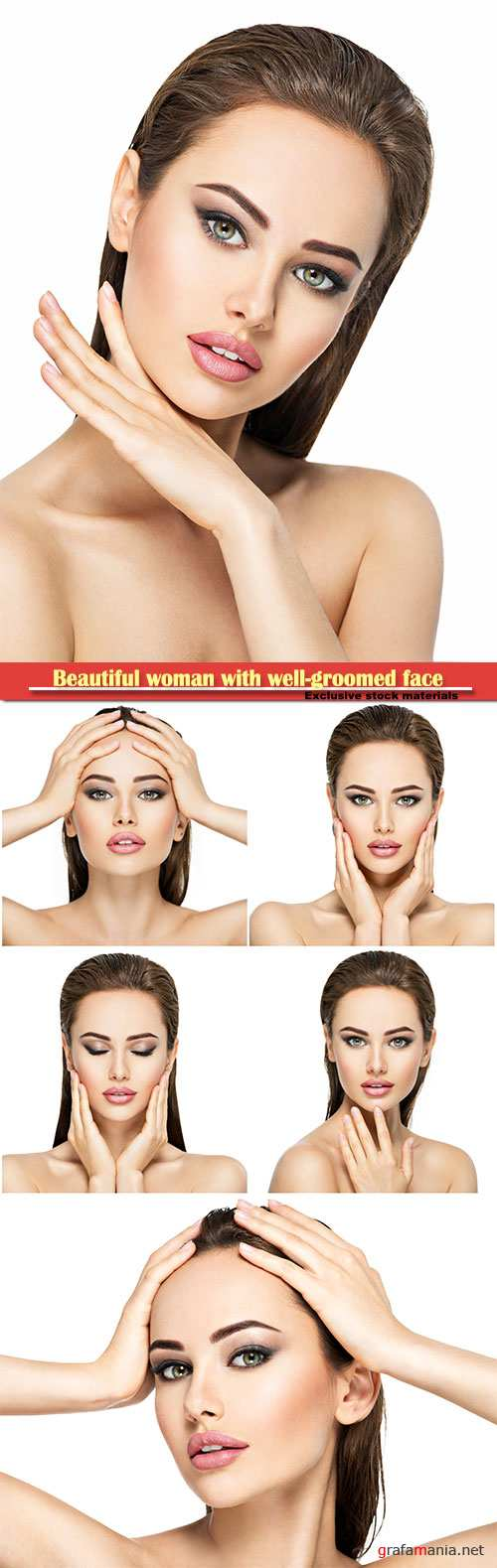 Beautiful woman with beautiful well-groomed face
