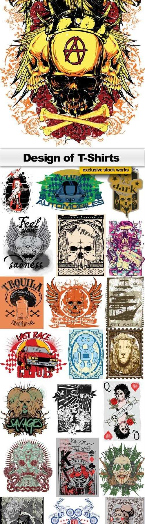 Design of T-Shirts Collection 25xEPS