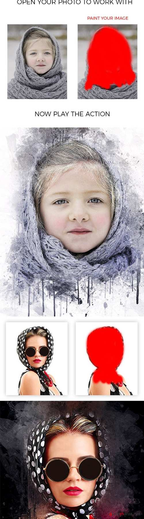 Ink Art Photoshop Action 21029026
