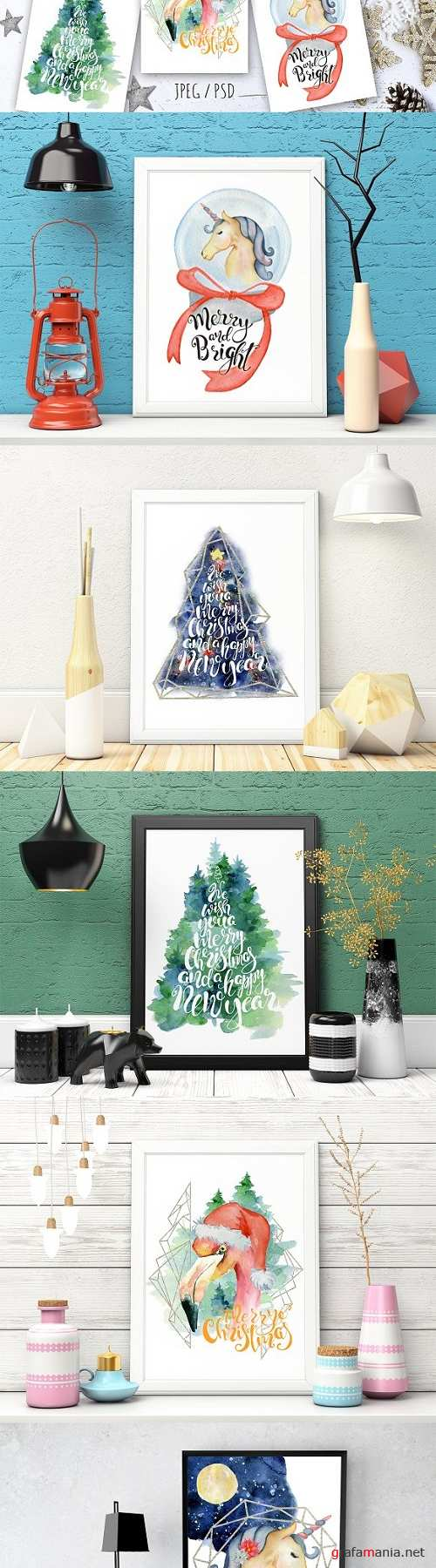 Christmas watercolor cards Vol.3 - 2084661