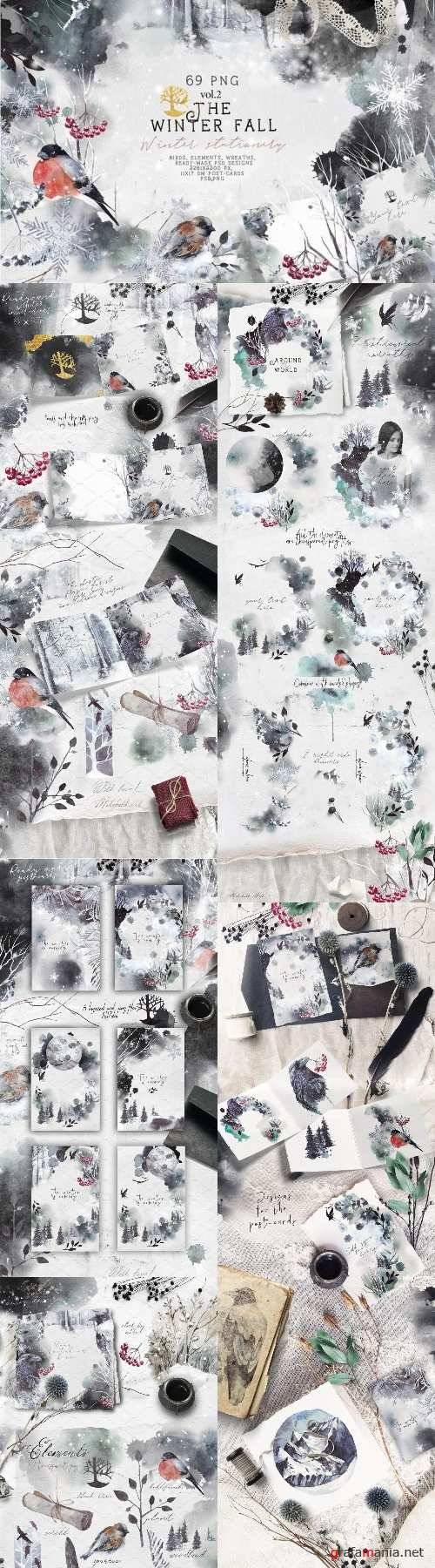 "Vol.2 ""Winter Fall"" Stationery - 2097204"
