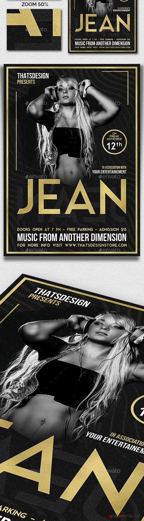 DJ Session Flyer Template V4 20416889 - 2021424