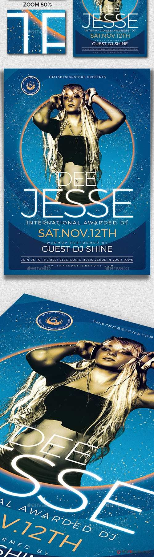 DJ Session Flyer Template V6 21039603 - 2088337
