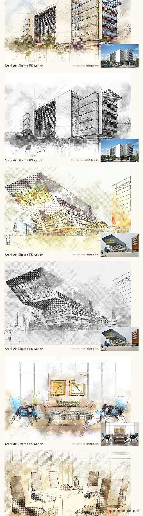 Archi Art Sketch Photoshop Action V2 2135673