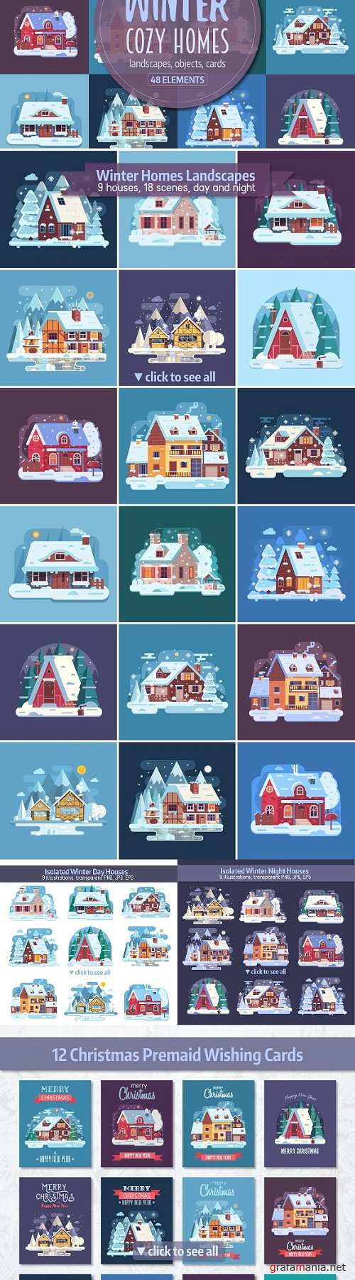 Winter Cozy House Collection - 2099158