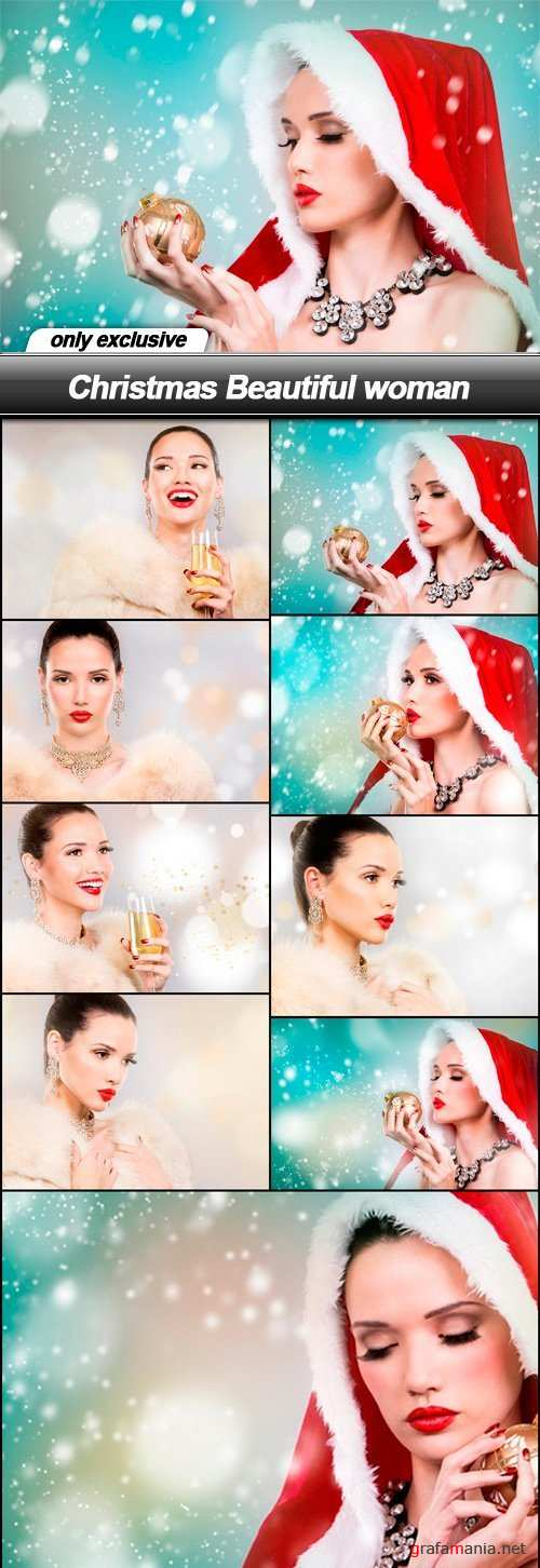Christmas Beautiful woman - 9 UHQ JPEG