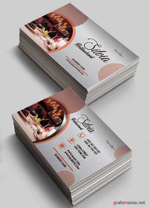 Restaurant V1 Business Card Templates PSD