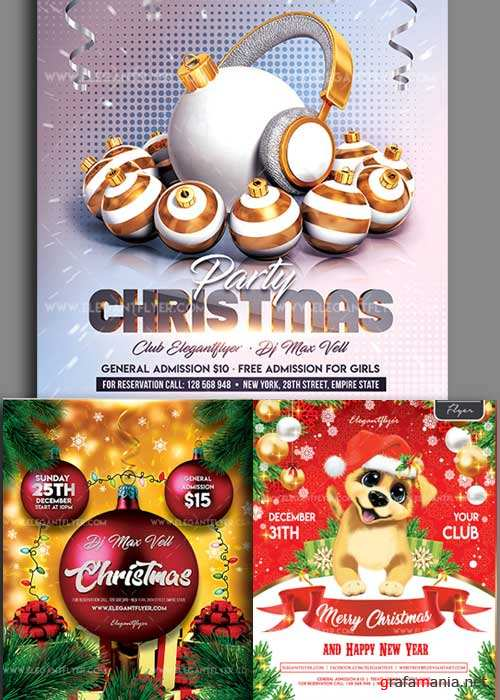 Christmas Flyer V14 3in1 Flyer Template