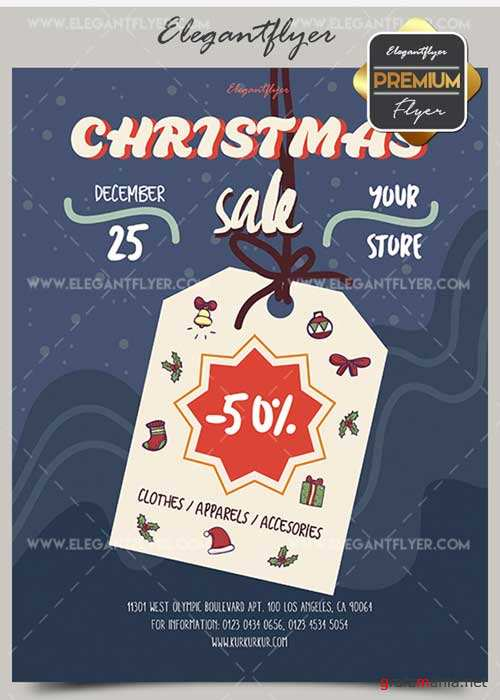 Christmas Sale V20 2017 Flyer PSD Template + Facebook Cover