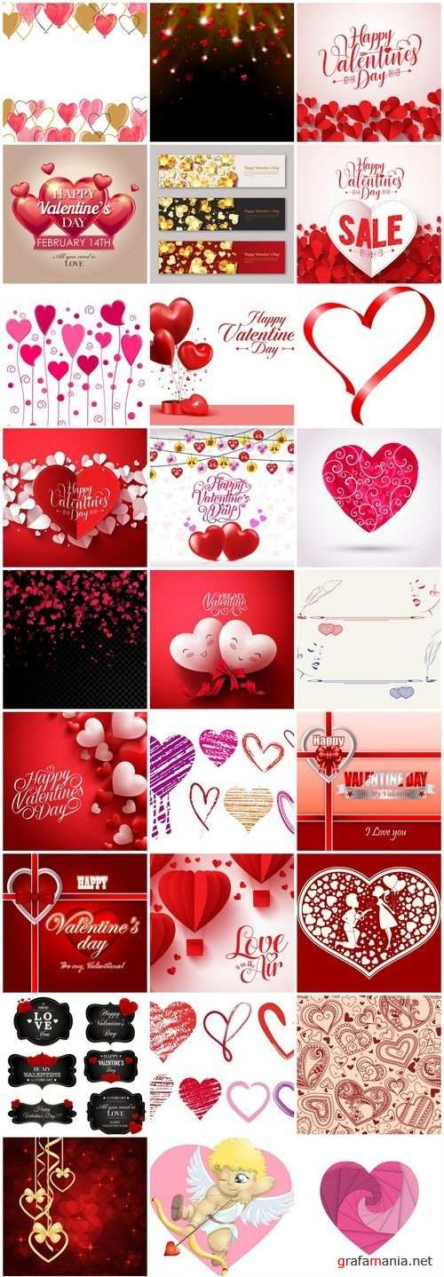 Happy Valentines Day Background #13 - 35 Vector