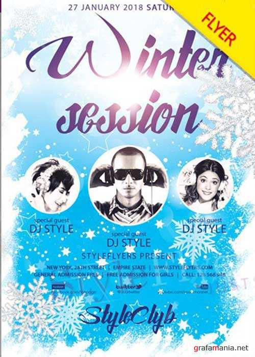 Winter Session V1 2018 PSD Flyer Template