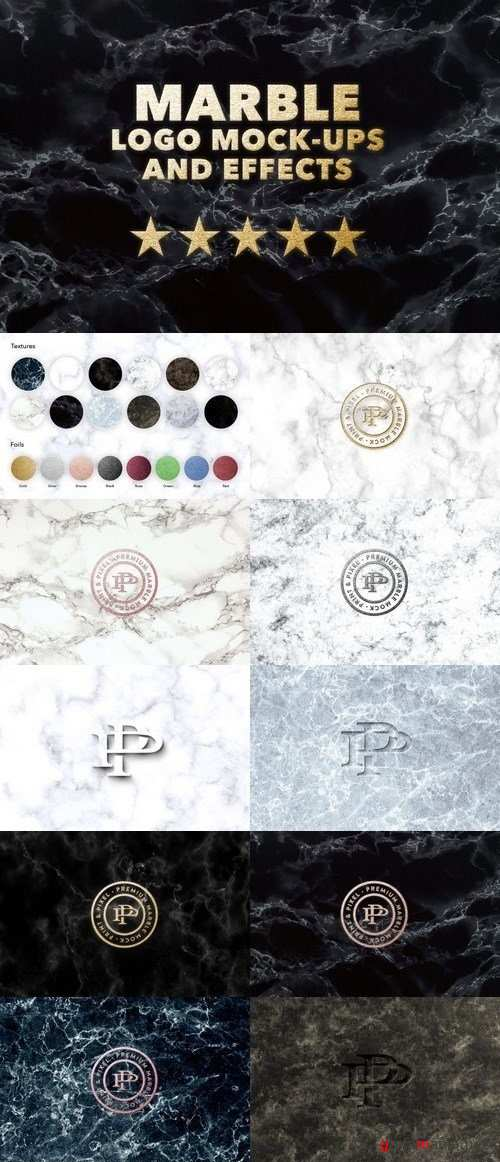 Marble logo effects mock + textures 1902085
