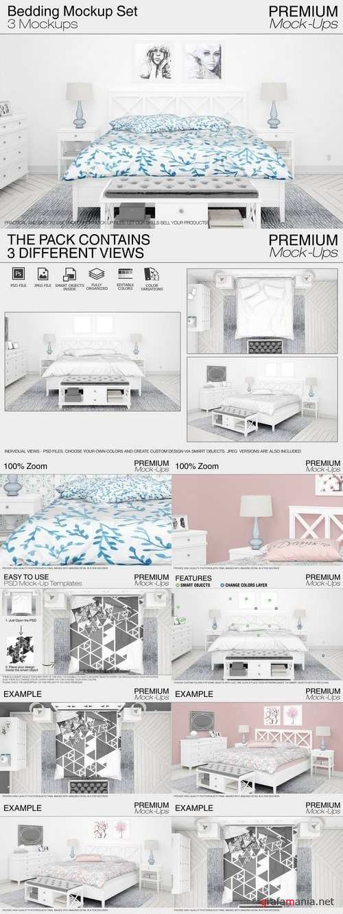 Bedding Mockup Set 1835557