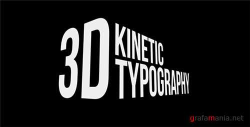 3D Kinetic Typography Titles - After Effects Project (Videohive)