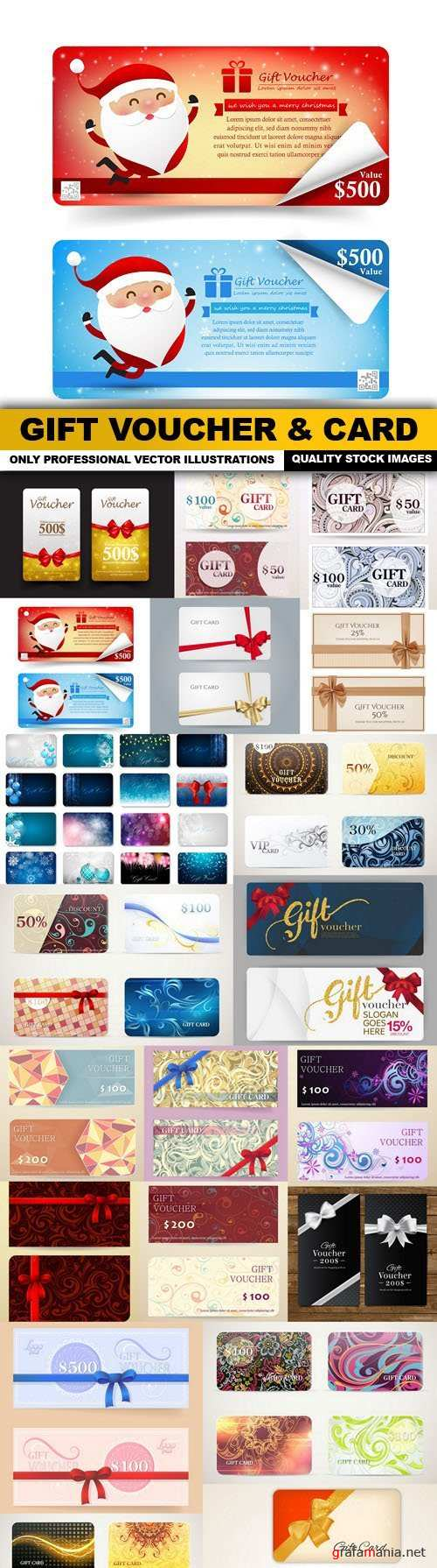 Gift Voucher & Card - 20 Vector