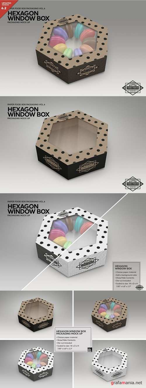 Hexagon Window Box MockUp 2182900