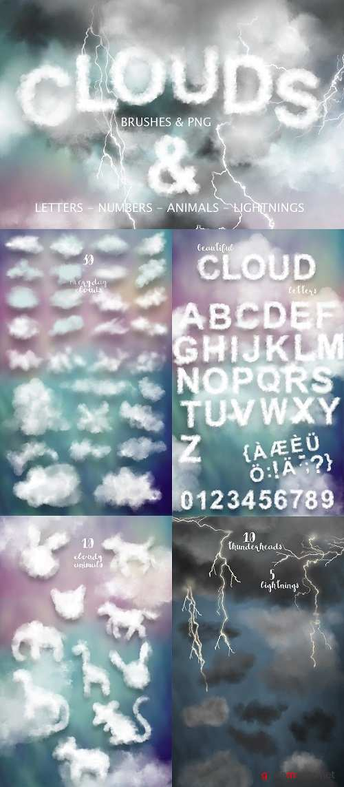 Clouds Graphics & PS Brushes - 1775584
