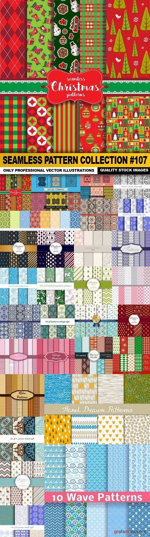 Seamless Pattern Collection 107 - 30 Vector
