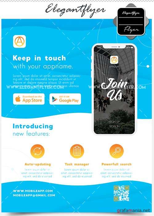 Mobile App Template V1 + Facebook Cover