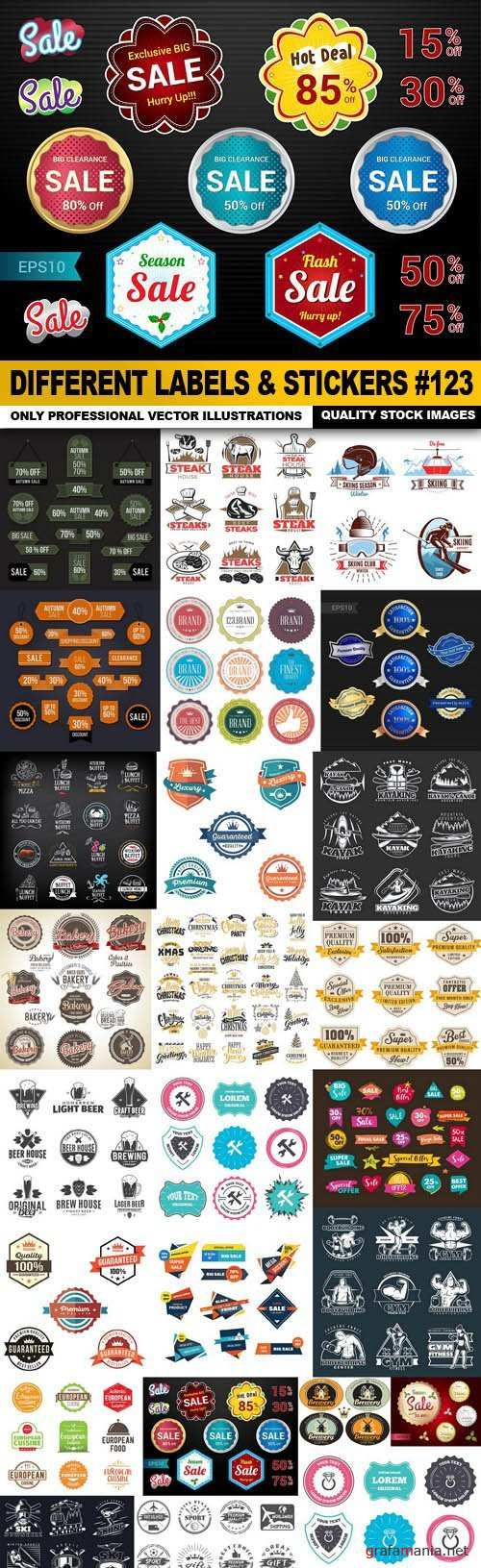 Different Labels & Stickers #123 - 25 Vector