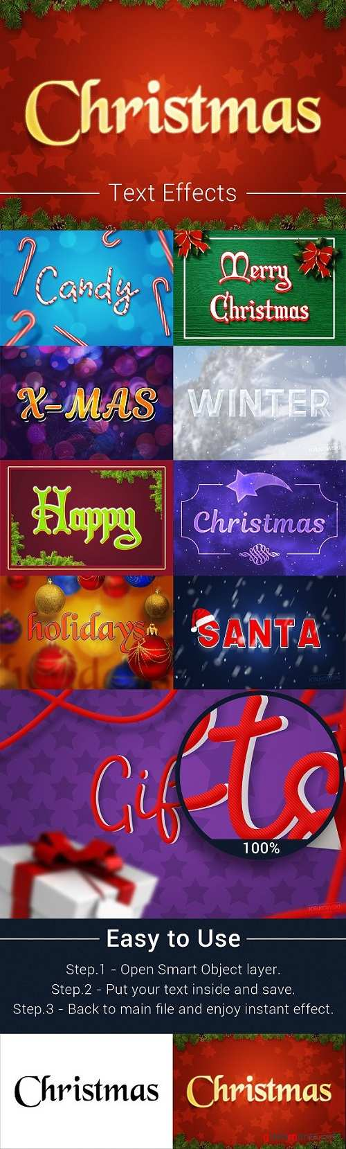 Christmas Text Effects Mockup 2162269