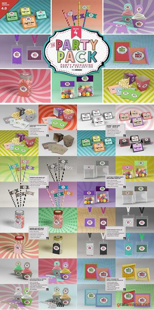Vol.4 Party Packaging MockUps 2197373