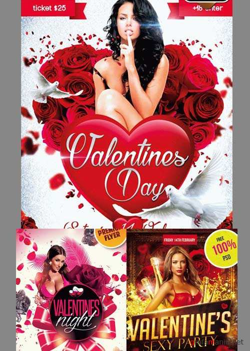 Valentines Day 3in1 V6 2018 Flyer Template