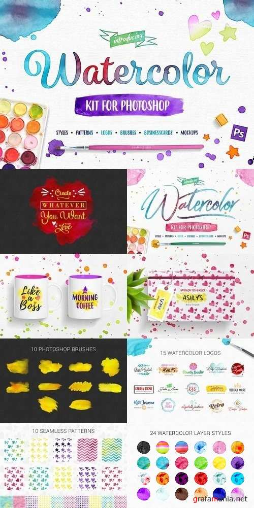 Watercolor Kit For Photoshop 1454425