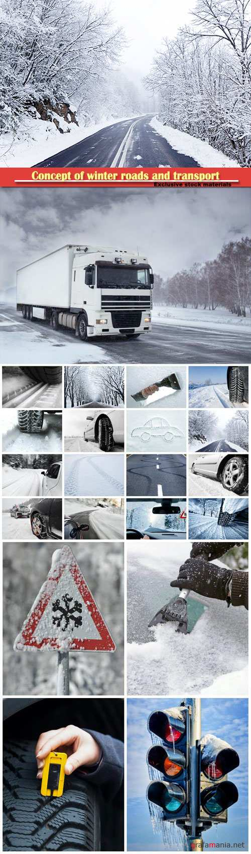 Concept of winter roads and transport