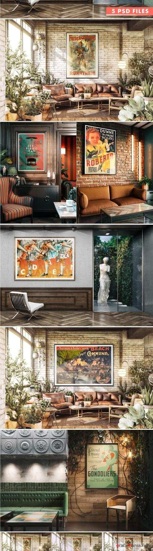 Great Interior Poster MockUp Set - 1865695