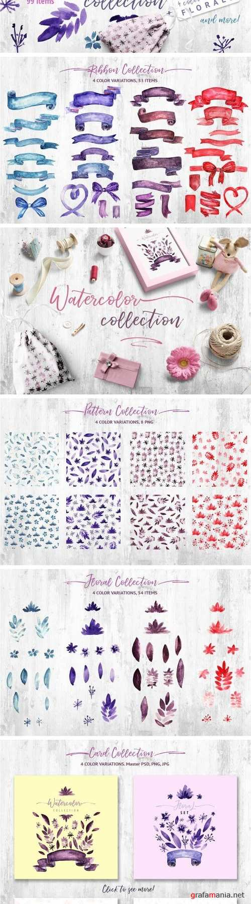 Watercolor Ribbon Collection - 1982659