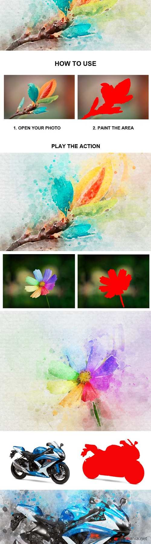 Water Color Photoshop Action 21211185