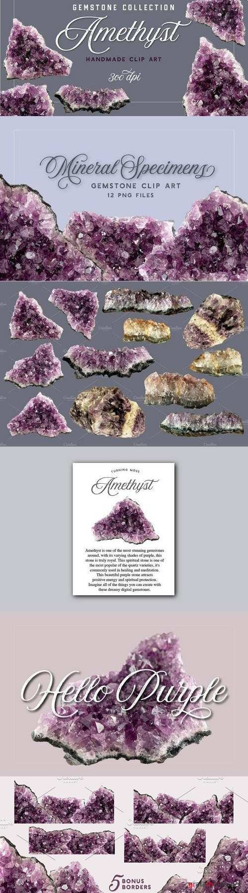 Amethyst - Gemstone Specimens 1912815