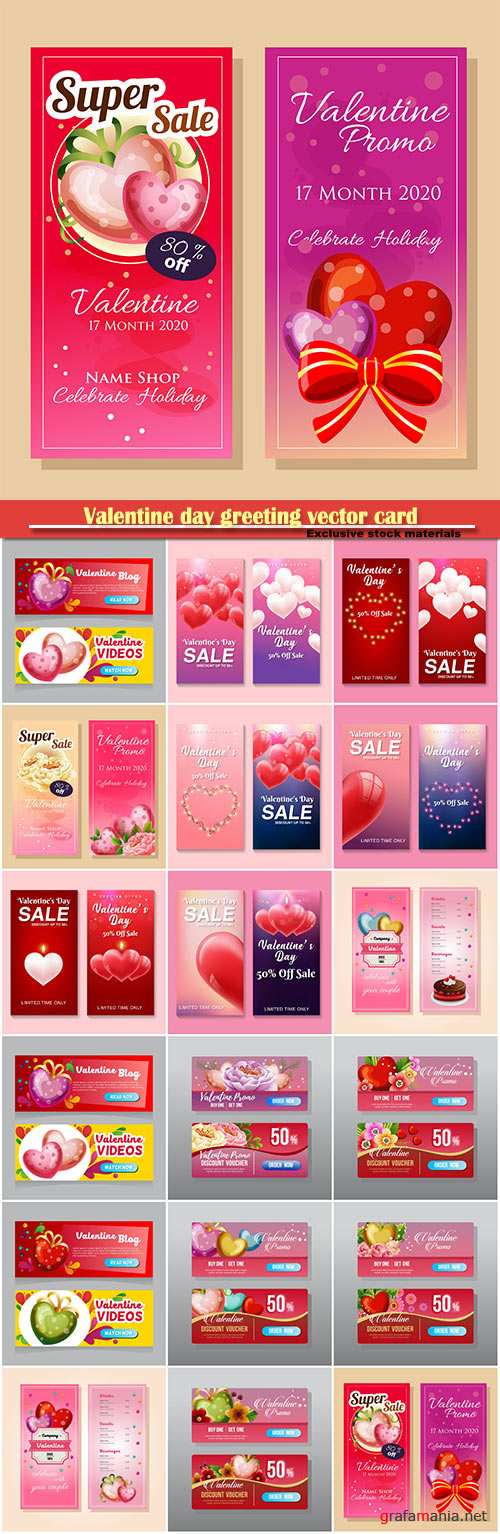 Valentine day greeting vector card, hearts i love you # 19