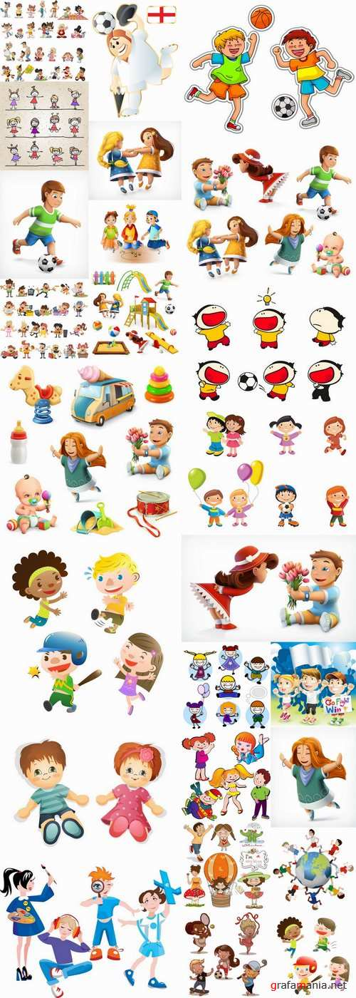Cartoon characters vector different picture man woman man 2-25 EPS