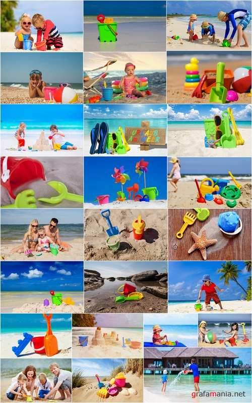 Family child children children's toy on the beach sea vacation Trips 25 HQ Jpeg